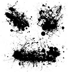 splat black trio vector image vector image