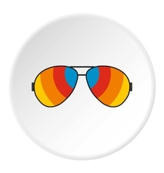 Sunglasses icon flat style vector image vector image