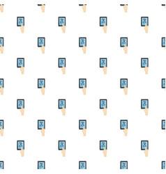 translator on phone pattern vector image