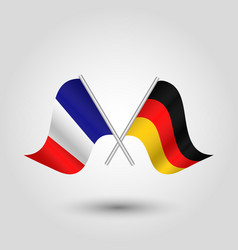 two crossed french and german flags vector image vector image