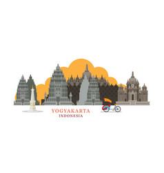 yogyakarta indonesia architecture landmarks vector image vector image