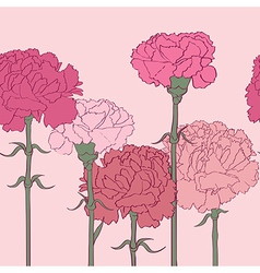 carnations pattern vector image vector image