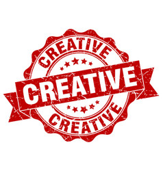 creative stamp sign seal vector image
