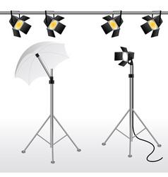 film studio scene vector image vector image