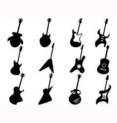Guitar silhouettes vector