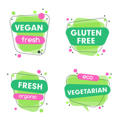 modern set of healthy vegan vegetarian vector image