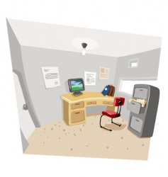 private work room vector image vector image