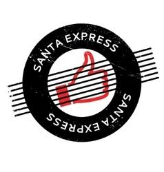 Santa express rubber stamp vector