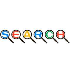 search system icon concept magnified letters vector image