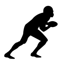american football player the black color icon vector image