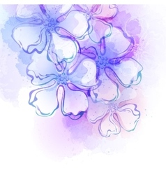 Decorative watercolor spring flower vector image vector image
