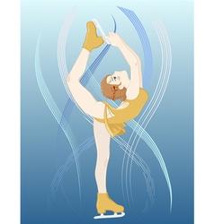 Girl Figure Skater vector image vector image