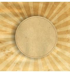 Retro Brown Vintage Square Sunburst vector image