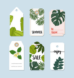 set of hand drawn summer vintage sale labels and vector image