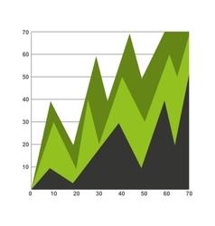 statistics graph isolated icon design vector image