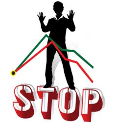 stop crisis vector image vector image