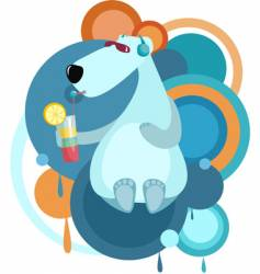 cool bear vector image vector image