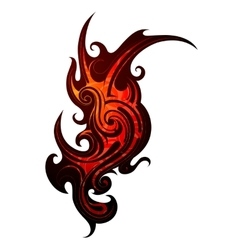Fire flame tattoo vector image vector image
