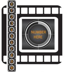movie counter pattern vector image