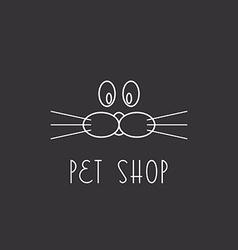 Muzzle dog or cat logo pet shop vector image