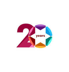 20 year anniversary diamond star template design vector