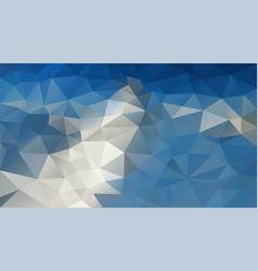Abstract irregular polygonal background blue vector