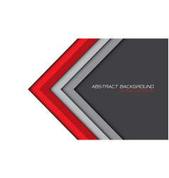 Abstract red gray arrow white background vector