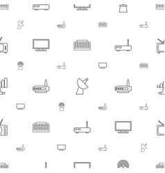 antenna icons pattern seamless white background vector image