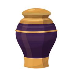 antique decorative vase ornament traditional vector image