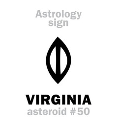 Astrology asteroid virginia vector