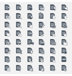 Big set Document File icons vector