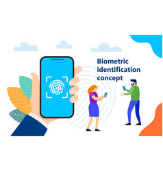 biometric identification concept vector image