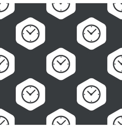 Black hexagon clock pattern vector image