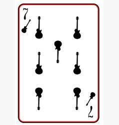 Black solid guitar seven vector