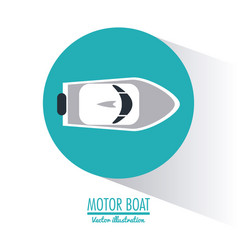 Boat nautical transportation design vector