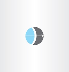 Bow and arrow circle logo vector