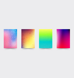 brochure gradient cover template set vector image