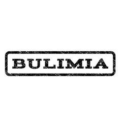 Bulimia watermark stamp vector