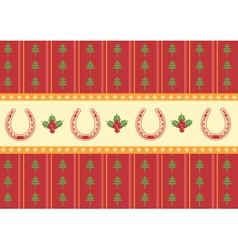christmas decoration background for design vector image