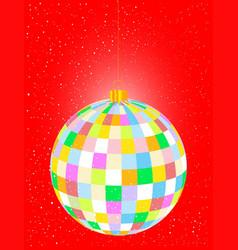 Christmas globe vector