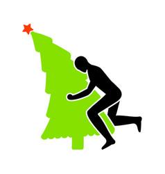 Christmas tree ing christmas man sex vector