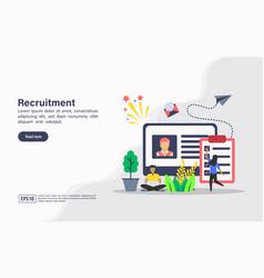 concept recruitment modern conceptual for vector image