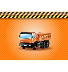 Construction car orange vector