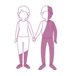 Couple in love icon vector