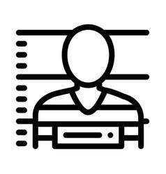 criminal bandit photo icon outline vector image