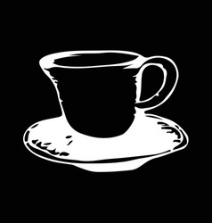 cup coffee hand draw doodle design vector image