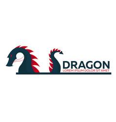 dragon logo chinese dragon flat vector image