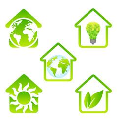 eco house set vector image