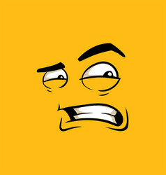 Face with angry expression cartoon vector