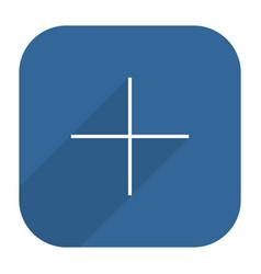 Facebook social network icon add followers vector
